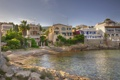 Картинка город, фото, побережье, дома, Испания, Baleares, Calviа