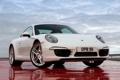 Картинка белый, 911, Porsche, Carrera 4, порше, Coupe, передок