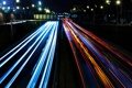 Картинка машины, фонари, дорога, ночь, свет, улица, огни