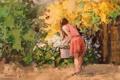 Картинка арт, Picking Flowers, Sean Wallis