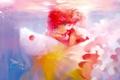 Картинка девушка, пузыри, рыба, аниме, арт, под водой, last summer