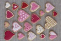 Картинка печенье, сердечки, выпечка, hearts, valentines, глазурь, cookies