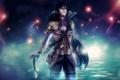 Картинка девушка, огни, оружие, Dungeons and Dragons: Farah