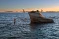 Картинка дети, скала, озеро, купаются, Lake Tahoe, Bonsai Rock