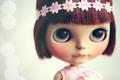 Картинка взгляд, блики, игрушка, кукла, повязка