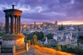 Картинка закат, облака, небо, башня, вечер, эдинбург, шотландия