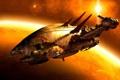 Картинка spaceship, пожиратели, светлячок, destruction, planet, сериал