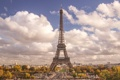 Картинка небо, облака, эйфелева башня, париж, paris