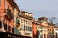 Картинка дома, Италия, фонарь, балкон, Верона