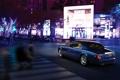 Картинка Авто, Дорога, Ночь, Синий, Город, Rolls-Royce, Phantom