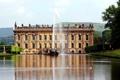 Картинка Англия, утки, Замок, фонтан, дворец, England, поместье