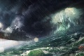 Картинка волны, шторм, скалы, крушение, Корабль