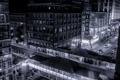 Картинка город, здания, Иллиноис, ночь, небоскребы, Чикаго