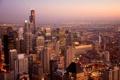 Картинка США, город, Chicago, Иллиноис, панорамма, Чикаго