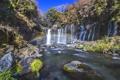 Картинка лес, река, камни, водопад, радуга, джунгли