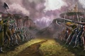 Картинка арт, солдаты, воины, поле битвы