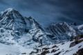 Картинка небо, снег, горы, скалы, вершины, mountains