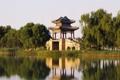 Картинка мост, природа, озеро, отражение, башня, Palace Beijing