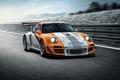Картинка авто, обои, трасса, Porsche, порш, порше, трек