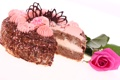 Картинка цветок, роза, торт, крем, десерт