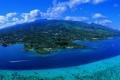 Картинка вид, остров, Таити, travel, aerial of Tahiti