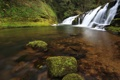 Картинка вода, река, камни, водопад, мох, USA, США