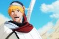 Картинка меч, аниме, bleach, рукоять, блондин, ichigo kurosaki