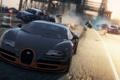 Картинка авария, гонка, полиция, погоня, Bugatti Veyron Super Sport, need for speed most wanted 2