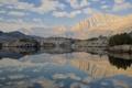 Картинка небо, горы, озеро, отражение, камни, Йосемити, национальный парк