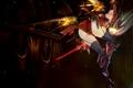 Картинка девушка, полет, оружие, магия, art, kawanakajima