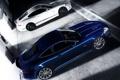 Картинка асфальт, машины, фон, гараж, jaguar xkr-s
