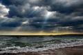 Картинка прибой, тучи, море