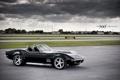 Картинка 360 three sixty forged, небо, Chevrolet, Corvette, black, чёрный, шевроле
