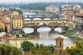 Картинка мост, город, река, фото, дома, Италия