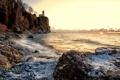 Картинка море, небо, камни, скалы, ванилька