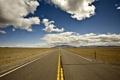 Картинка дорога, небо, облака, фон, холмы, обои, трасса