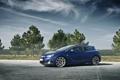 Картинка небо, деревья, Opel, астра, синяя, blue, опель