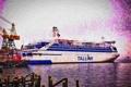 Картинка море, корабль, паром, Tallink