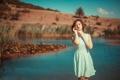 Картинка лето, девушка, платье, боке