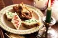 Картинка тарелка, свеча, печенье, молоко