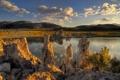 Картинка камни, Eastern sierras, Mono lake, California, горы, озеро