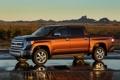 Картинка Закат, Отражение, Машина, Улица, Toyota, Пикап, Tundra