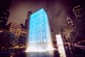 Картинка ночь, город, парк, Чикаго, фонтан, Иллиноис