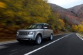 Картинка дорога, осень, Range Rover