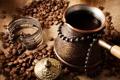 Картинка кофе, браслет, напиток, зёрна, турка
