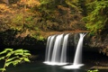 Картинка осень, лес, водопад, США, Oregon, Upper Butte Creek Falls