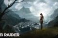 Картинка девушка, дождь, скалы, арт, Tomb Raider, Лара Крофт, Lara Croft