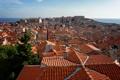 Картинка море, небо, дома, крыши, панорама, Хорватия, Дубровник