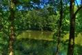 Картинка небо, деревья, река, Германия