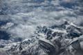 Картинка облака, горы, пейзаж, панорама, вершины